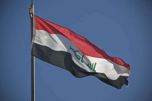 Iraqi Flag flies during recent election